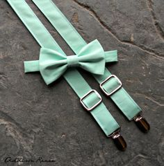 Boys suspenders and bow tie set MINT GREEN boys by ARBboys, $29.95