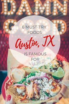 6 foods Austin, Texas, is famous for (read: 6 foods you must-try on your trip to the capital of Texas) and my recomendations on where to find them! Traditional Guatemalan Food, Gourmet Recipes, Cooking Recipes, Guatemalan Recipes, Health Savings Account, Good Food, Yummy Food, Austin Tx, Recipe Box