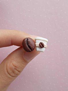Ohrstecker - Kaffee Ohrringe - ein Designerstück von NahootDesign bei DaWanda