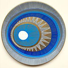 White Evil Eye Decor - White and Golden - White Mandala - Sun Decor - Decorative Plate - White Spiral Decor - Evil Eye Wall Decor - by biancafreitas on Etsy