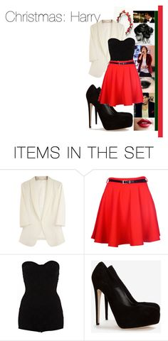 """""""Christmas with Harry"""" by dressingupwith1d ❤ liked on Polyvore featuring art, harry styles, harry, christmas and one direction"""