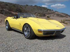 1970 Chevrolet Corvette Convertible 454 4 Speed - Image 1 of 39 - Yellow Corvette, Corvette Summer, Little Red Corvette, Rat Rods, Gm Car, Corvette Convertible, Best Muscle Cars, Classy Cars, Chevrolet Corvette