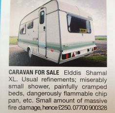 Top Gear selling another of their used caravans.