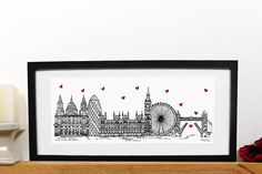 London print in mount London skyline landmark landscape