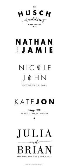 Modern Simple Stylish Wedding Logos for couples on Etsy Wedding Logo Design, Wedding Fonts, Modern Wedding Invitations, Monogram Wedding, Wedding Invitation Cards, Wedding Designs, Wedding Cards, Wedding Monograms, Wedding Ideas