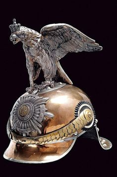 """A """"Garde du Corps"""" troopers' helmet, Germany 1900; with German imperial eagle."""