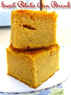 Sweet Potato Corn Bread- Great for Fall and winter holidays too!http://en.petitchef.com/recipes/