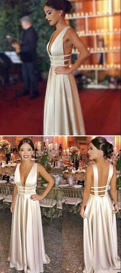 Simple Long Prom Dress, Elegant A-line Prom Dress, 2019 Ivory Prom Dress, Shop plus-sized prom dresses for curvy figures and plus-size party dresses. Ball gowns for prom in plus sizes and short plus-sized prom dresses for Ivory Prom Dresses, A Line Prom Dresses, Grad Dresses, Sexy Dresses, Evening Dresses, Fashion Dresses, Wedding Dresses, Party Dresses, Dress Party