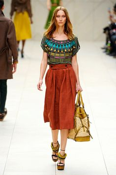 Burberry Prorsum Spring 2012.  REALLY want that skirt especially. Ahhhh!!