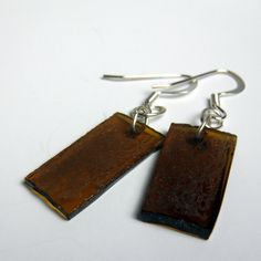 Recycled Beer Glass Earrings http://www.salvagedjewelry.com