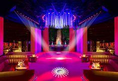 Nightclub Overnight Makeover with Velvet Curtains  http://www.justleds.co.za  http://www.justleds.co.za