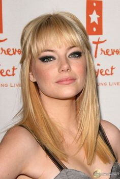 Emma Stone; Blonde hair.  Beautiful in any hair color<3