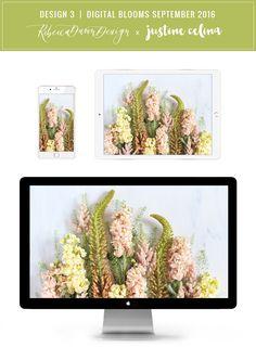 Digital Blooms Desktop Wallpaper 3 | September 2016 // JustineCelina.com x…