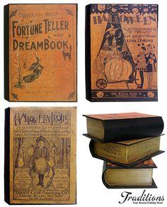 vintage books Halloween