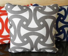 Trina Turk Santorini grey indoor or outdoor decorative pillow cover on Etsy, $38.00