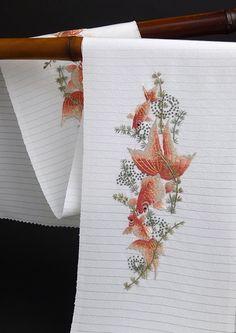 正絹手刺繍半襟