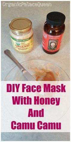 How to make a face mask with camu camu and honey. #SugarScrubForFace Face Scrub Homemade, Homemade Face Masks, Homemade Skin Care, Homemade Blush, Homemade Beauty, Acne Face Mask, Diy Face Mask, Face Skin, Skin Mask