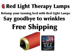 Skin Rejuvenation Red Light Therapy Tanning Bed Lamps Bulbs Qty 6  F71 T12   USA #SuperSun