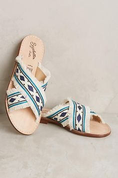 Anthropologie Seychelles What If Slide Sandals