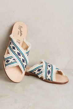 Anthropologie Seychelles What If Slide Sandals