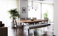 Dining Room Chairs - back pillow hung - The Colyer, Covent Garden | Studio Ashby