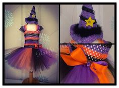 Witch Tutu Dress. Beautiful & lovingly handmade. Price varies on size, starting from £25.  Please message us for more info. Find us on Facebook www.facebook.com/DiddyDarlings1 or our website www.diddydarlings.co.uk