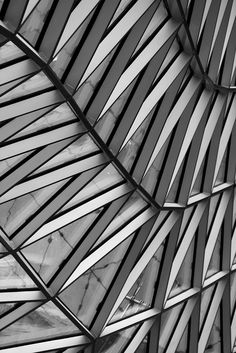Geometric patterns in architecture with graphic repetition; texture inspiration // MyZeil, Frankfurt