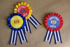 Circus Themed Birthday - DIY Badges @OleanderandPalm