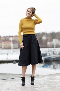 Nina Campioni in Filippa K, Weekday and Nelly. Swedish simplicity and style in a classy way.