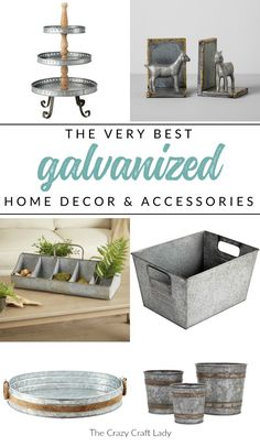 Shop my top picks for galvanized decor and home accessories, all while sticking ., Shop my top picks for galvanized decor and home accessories, all while sticking to a budget. Find the very best inexpensive home accents and decoratin. Shabby Chic Vintage, Shabby Chic Decor, Rustic Decor, Farmhouse Decor, Farmhouse Style, Inexpensive Home Decor, Easy Home Decor, Cheap Home Decor, Home Decor Websites