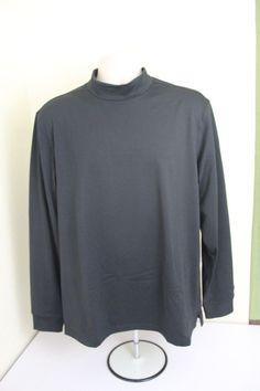 Walter Hagen hydroproof men  (L) Large black shirt polyester long sleeves  #Walterhagen