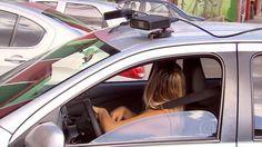 Suposto 'carro-radar' é sensor que ajuda no planejamento do trânsito +http://brml.co/1RTRj7L
