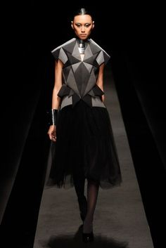 Geometric Fashion - structured top with sharp silhouette, faceted surface detail & perfect symmetry // Atsushi Nakashima FW12