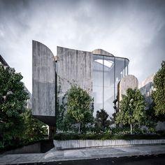 Toorak Apartments by Auhaus Architecture Artists, Architecture Panel, Concept Architecture, Amazing Architecture, Modern Architecture, Arch House, Facade House, Eco City, Building Exterior