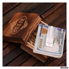 Personalized Money Clip – 925 Silver with Wood Box