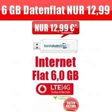 Vodafone 6 GB Daten Flat - 225 Mbit´s LTE Highspeed Internet - Mtl. 12,99€