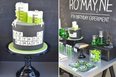 Periodic Table Cake {Mad Science Party}