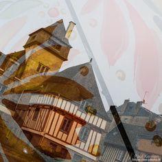 vieilles maisons + faïence = #Quimper - dimanche matin dans les rues - 2 expositions pour 1 photo  - à Quimper © Paul Kerrien 2017 https://en-photo.fr Finistère Bretagne