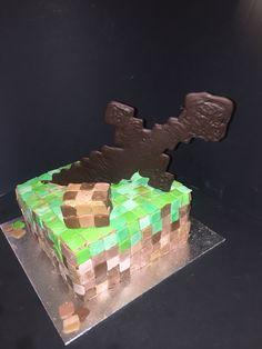 Minecraft cake www.taartenfeesies.nl