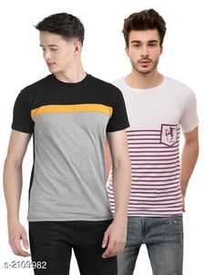 Checkout this latest Tshirts Product Name: *Fancy Cotton Blend Men's Tshirt (Pack Of 2)* Fabric: Cotton Blend Sleeve Length: Short Sleeves Pattern: Printed Multipack: 2 Sizes: S, M, L, XL Country of Origin: India Easy Returns Available In Case Of Any Issue   Catalog Rating: ★4 (716)  Catalog Name: Stylish Fancy Cotton Blend Men's Tshirts Combo Vol 7 CatalogID_279544 C70-SC1205 Code: 544-2109982-579