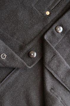 Jet black utility jacket work wear  | Scott Fraser Collection