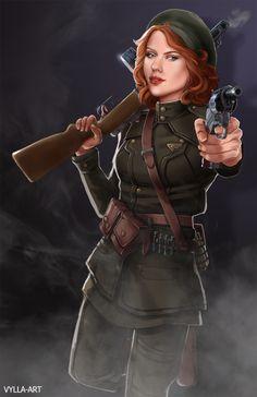 Natasha: The Soviet member of the Howling Commandos - somebody should write this AU