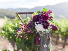 These colors would be perfect for a Winery Wedding. Violetta Flowers, San Francisco.