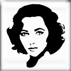 The Stencil Studio Famous Faces Range - Elizabeth Taylor (2) Reusable Stencil - Size A2: Amazon.co.uk: Kitchen & Home