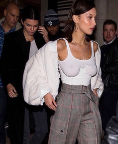 Bella Hadid in our Structured Corset in White  #OrseundIris #OI