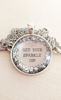 How To Make Photo Jewelry? Video DIY + Materials - Quote pendant necklace get your sparkle on