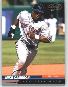 2005 Leaf 129 Mike Cameron - New York Mets (Baseball Cards) *** This is an Amazon Affiliate link. Click image for more details.