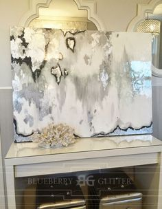 His Wife. Their Mommy.: Easy DIY Abstract Painting