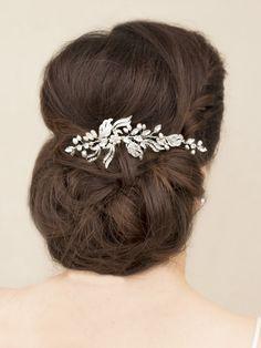 Hair Comes the Bride - Pearl and Rhinestone Bridal Hair Comb ~ Clarissa, $72.00 (http://www.haircomesthebride.com/pearl-and-rhinestone-bridal-hair-comb-clarissa/)