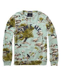 Printed Miami Sweater [$125]